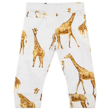 Load image into Gallery viewer, Milkbarn Orange Giraffe Bamboo Onesie & Leggings Set