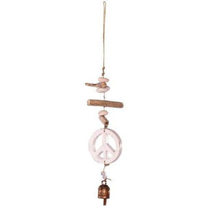 Wooden Peace Windchime