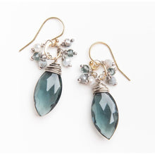Load image into Gallery viewer, Blue Quartz Earrings