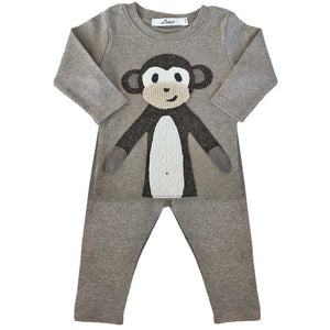Brown Monkey Baby Outfit
