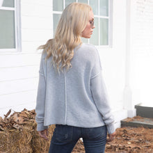 Load image into Gallery viewer, Bella Back Seam Crew Sweater