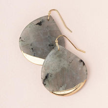Load image into Gallery viewer, Stone Dipped Teardrop Earring