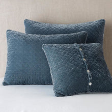 Load image into Gallery viewer, Bella Notte Linens Silk Velvet Quilted Pillow Sham