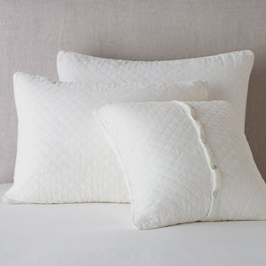 Bella Notte Linens Silk Velvet Quilted Pillow Sham