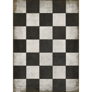 """Checkered Past"" Vinyl Floor Mat,  3'7"" x 5'"