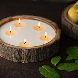 Large Tree Bark Artisan Candle - Ginger Patchouli