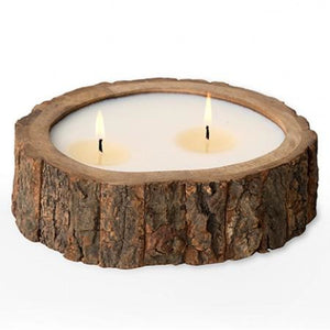 Tree Bark Artisan Candle