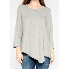 Load image into Gallery viewer, Wilt Slant Hem Tunic Crewneck Tee - Grey or Shadow