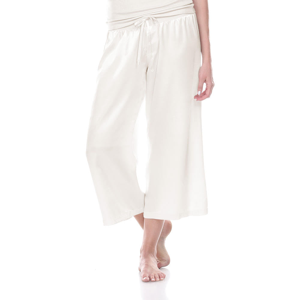 Jolie Satin Capri Pant (2 Colors)