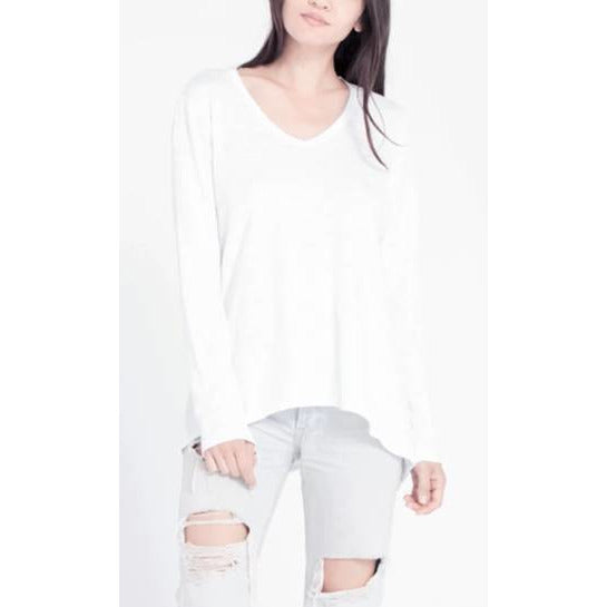 Wilt Long Sleeve Boyfriend Tee - White or Thistle