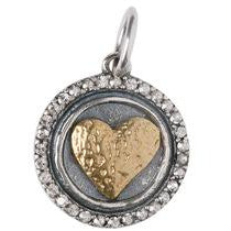Hearts Content Heart of Gold Charm