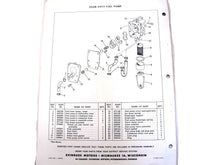 1958 Evinrude 50HP 50012 50013 Four-Fifty Parts Catalog/List Used