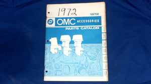 USED 1972 OMC 172474 ACCESSORIES PARTS CATALOG