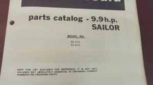 1980 Chrysler Outboard 9.9 HP Sailor 95H1G 95B1G Parts Catalog - Used