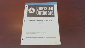 1981 Chrysler Outboard 85 H.P. 850H1C 856H1J 856B1J 856B1D Parts Catalog - Used