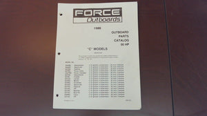 1988 Force Outboards 50 HP Parts Catalog - Used