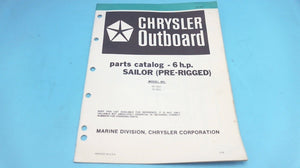 1979 Chrysler 6 H.P. Sailor (Pre-Rigged) 65 H0A 65 B0A Parts Catalog - Used