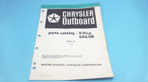 1979 Chrysler Outboard 9.9 H.P. 95 H0F 95 B0F Sailor Parts Catalog - Used