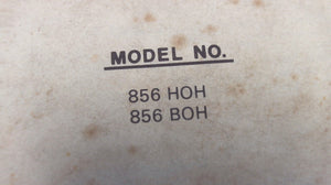 1979 Chrysler Outboard 85 H.P. 856 HOH 856 BOH Parts Catalog - Used