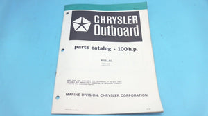 1979 Chrysler Outboard 100 H.P. 1004 HOB 1004 BOB Part Catalog - Used