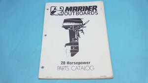 1978 Mariner Outboards 28 Horsepower Parts Catalog - Used