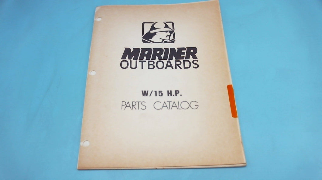 1978 Mariner Outboards W/15 H.P. Parts Catalog - Used