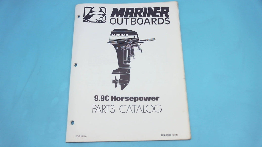 1978 Mariner Outboards 9.9C Horsepower Parts Catalog - Used
