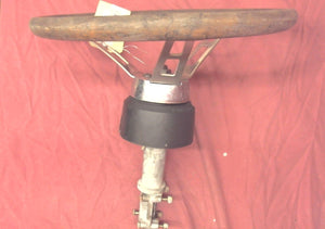 "Rack Steering Helm with Vintage Woodgrain 14"" Steering Wheel"