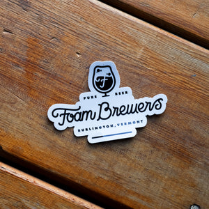 Foam Brewers Full Logo Sticker *2 colors available*