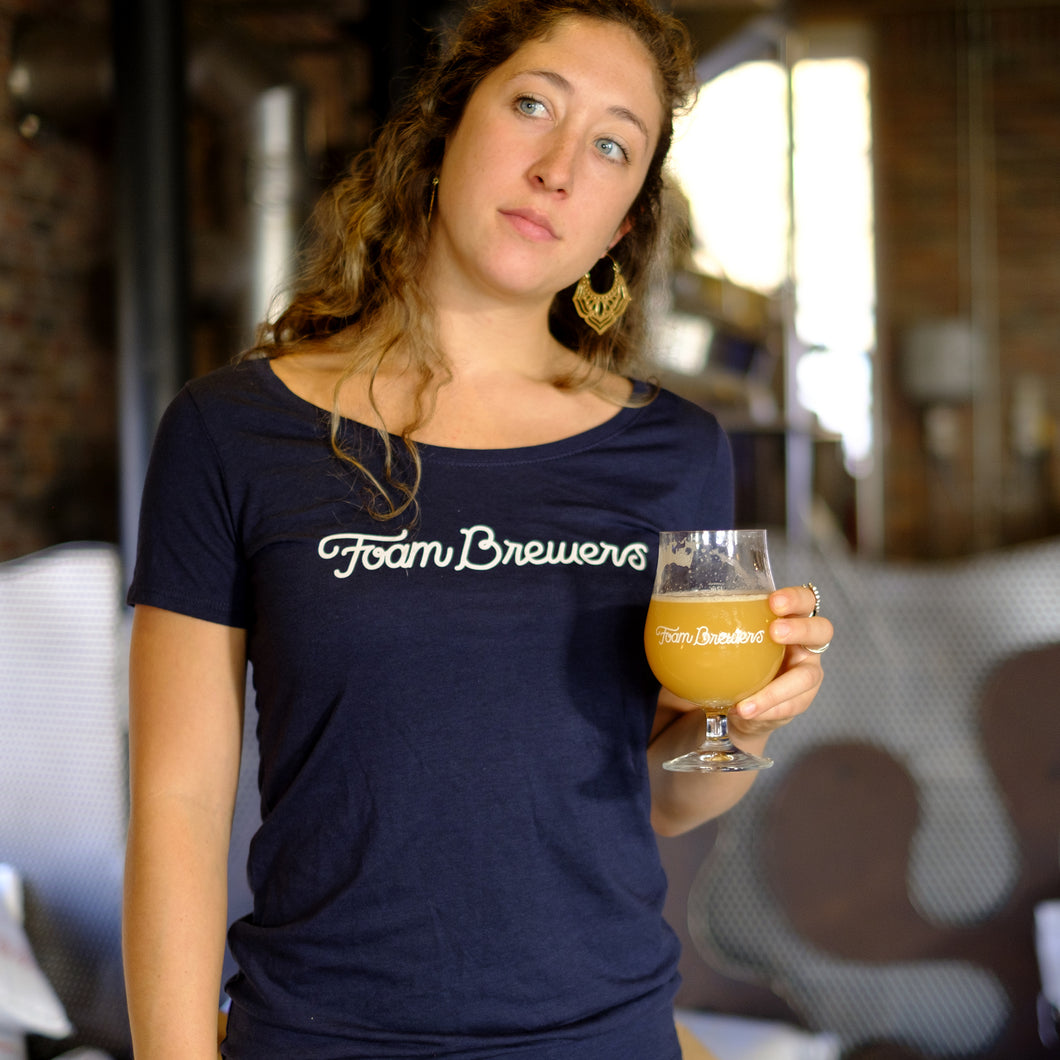 Women's Foam Brewers Script T-Shirt