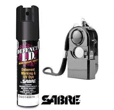 Spray De Défense Sabre Usa 19 Ml + Alarme Personnelle 120Db Self Defense