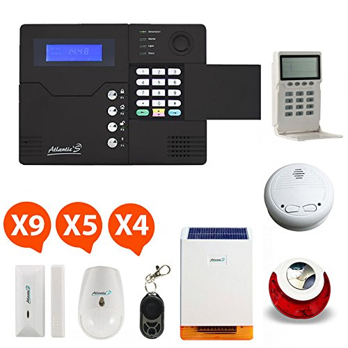 Atlantic'S ST V KIT 10 MD-326R - Alarme maison sans Fil Gsm application smartphone st-v Kit 10A (Md-326R)