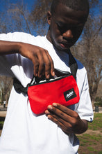 Red compact bum bag
