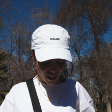 5 Panel white nylon cap