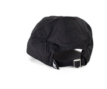 5 Panel black nylon cap