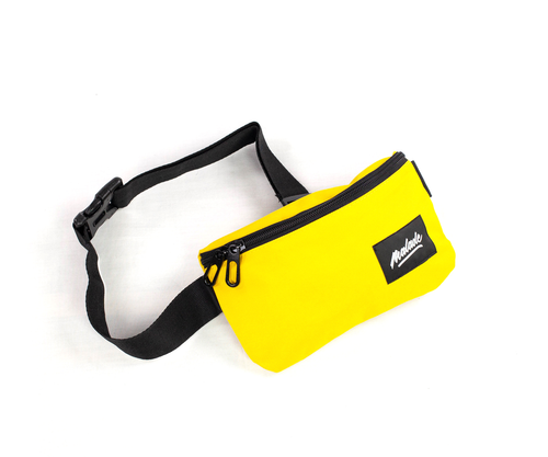 Yellow compact bum bag