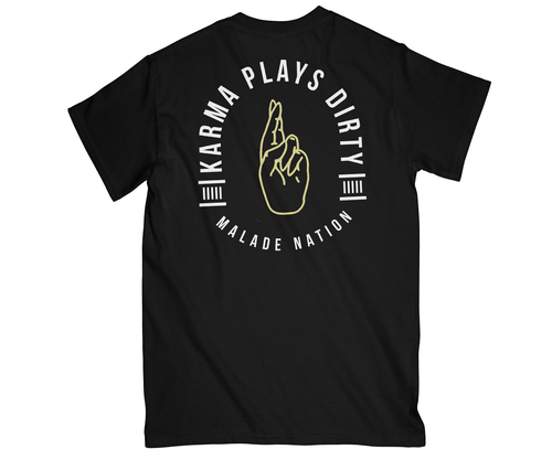 Karma plays dirty black T-shirt