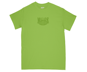 worldwide green T-shirt