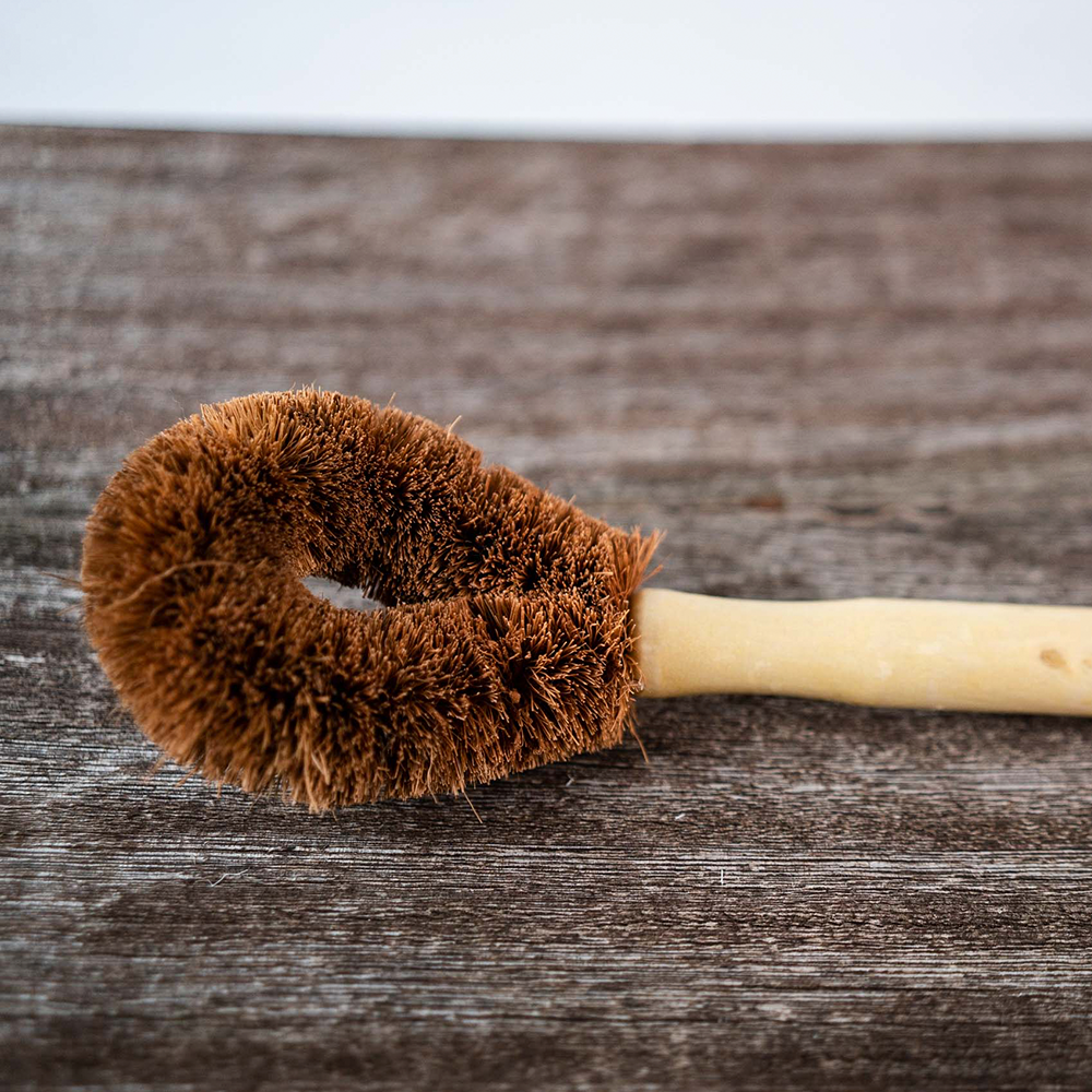Coconut Coir Beech Handled Dish Brush