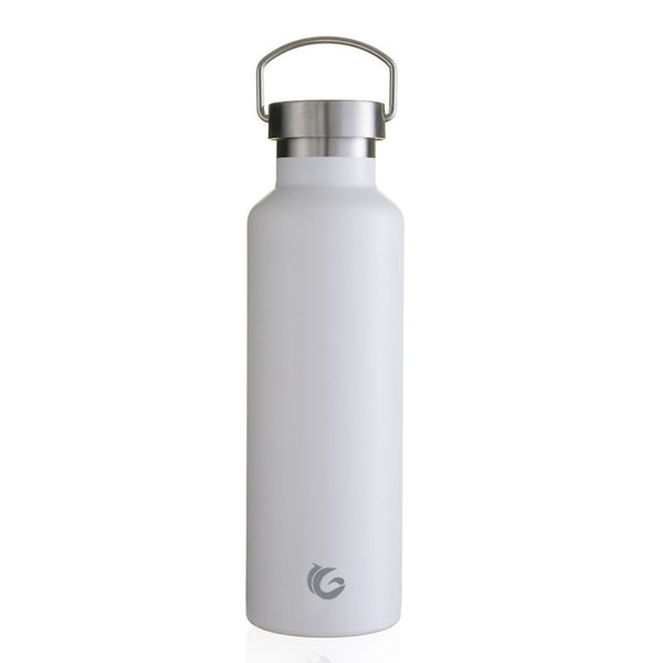 One Green Bottle Insulated Reusable Water Bottle 600ml White