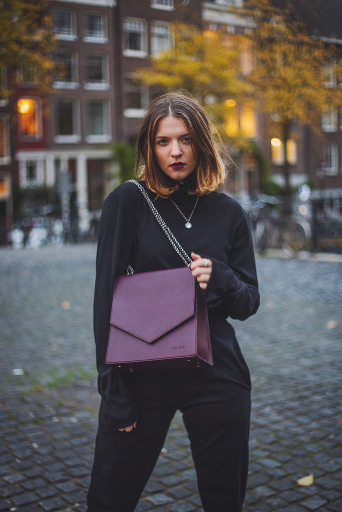 Interview Chanel Trapman Mumster The Impact Shop Amsterdam Vegan bags Vegan handbags Vegan luxury Sustainable handbags/ fashion Cruelty-free handbags Handmade bags Peta certified vegan Osier
