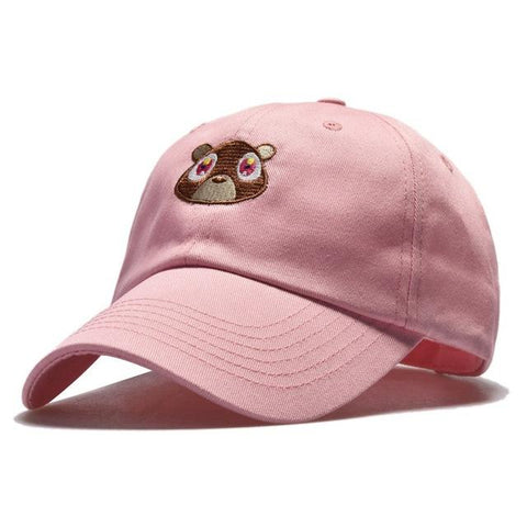 Casquette Ourson Kanye West Rose Dad Hat