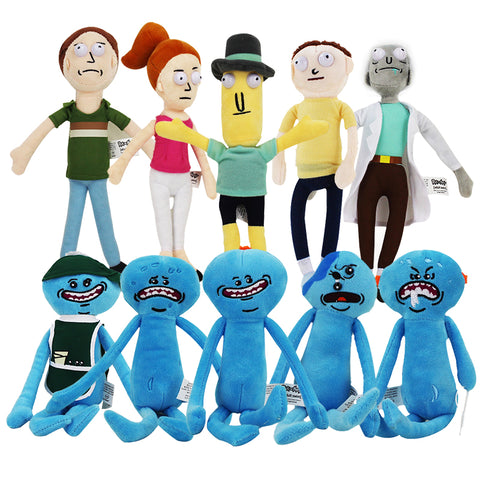 Peluche Rick Et Morty 20-30Cm And Foamy Mr Meeseeks Mr. Poopybutthole Dolls