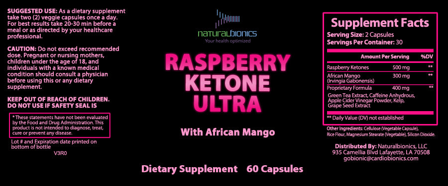 Raspberry Ketone Ultra 600mg