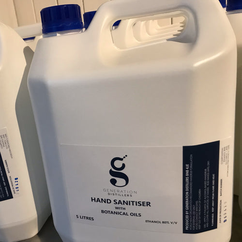 Generation 11 Hand sanitiser 5L Ethanol 80% v/v *FOR LOCAL DELIVERY ONLY*
