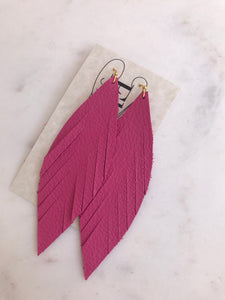 Pink Slim Feathers