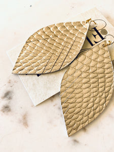 Champagne Snakeskin Feather