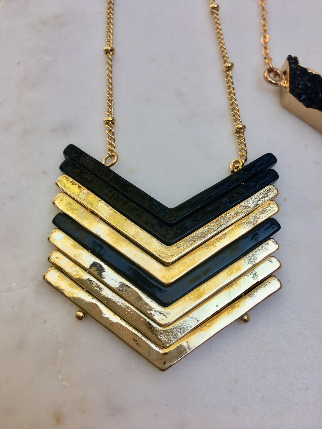 Black Arrows Neckalce