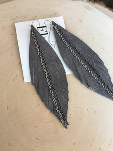 Grey Slims with Double Chain