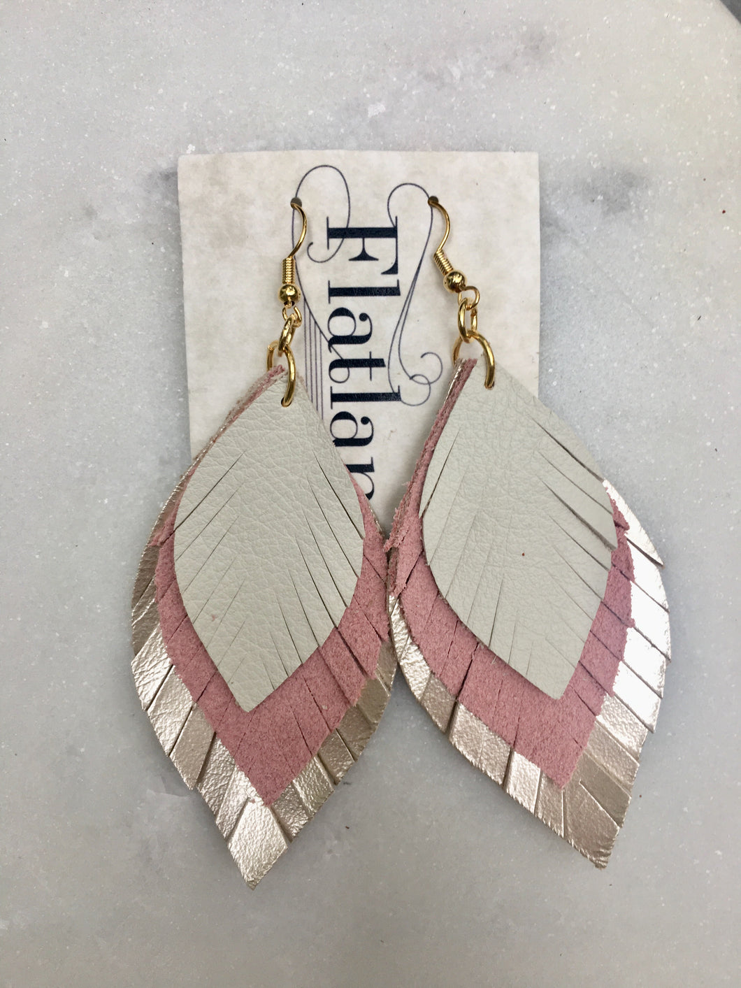 Stacked Blush Feathers
